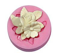Недорогие -для украшения торта цветок формы силиконовые брошь форма для помады конфеты ремесел украшения шоколада PMC смолы глины