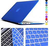 "Enkay Case for Macbook Air 13.3"" Solid Color Plastic Material Protective Keyboard Film and Matte Case"