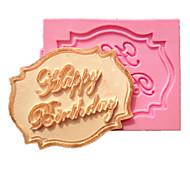 Недорогие -С Днем Рождения кекс карты помады формы торта украшение формы шоколада для кухни выпечки в течение леденец