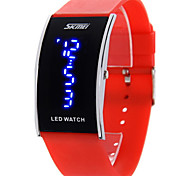 SKMEI® Men's Blue LED Digital Watch Japanese Quartz Water Resistant Rubber Strap Cool Watch Unique Watch