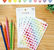 cheap -Colorful Funny Heart Sticker Set(6 PCS)