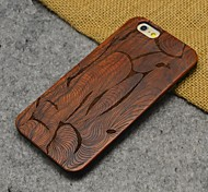 Wood Abstract Style Carving Concavo Convex Hard Back Cover for iPhone 6s Plus/iphone 6 Plus