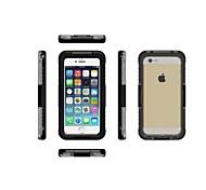 Недорогие -Кейс для Назначение Apple iPhone 6 iPhone 6 Plus Защита от пыли Водонепроницаемый Чехол Сплошной цвет Твердый ПК для iPhone 7 Plus iPhone