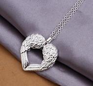 Недорогие -925 серебряных крыльев ожерелья с любовью (1 шт) элегантный стиль