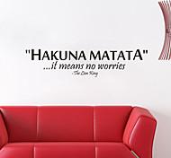 Недорогие -настенные наклейки Наклейки на стены, Акуна матата английских слов&цитирует наклейки стены PVC