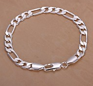 cheap -Men's Chain Bracelet Silver Plated Jewelry Christmas Gifts Wedding Party Daily Casual Costume Jewelry