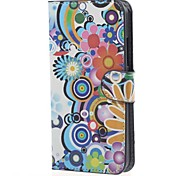 For Nokia Case Wallet / Card Holder / with Stand Case Full Body Case Flower Hard PU Leather Nokia Nokia Lumia 640