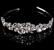 cheap -Sterling Silver Crystal Headbands Headwear with Floral 1pc Wedding Special Occasion Headpiece