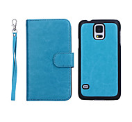 New Arrival Genuine Leather Wallet Cases with 9 Cards Slots for Samsung  Galaxy S5 I9600