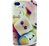 Zuckerwatte-Muster-TPU weiche Tasche für iPhone 4 / 4S