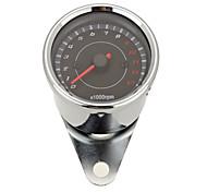 Motorcycle Universal Mechanical 13000RPM Analog Tachometer Gauge LED Backlight