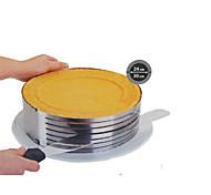 Недорогие -моды металла круг регулируемые шифон из нержавеющей стали мусс слой ломтерезным выпекание варка торт сс-43