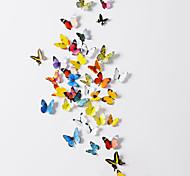 Недорогие -Стикеры наклейки для стены, 3D бабочки (38 шт. комплект поставки)