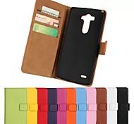 Недорогие -сплошной цвет стильный реальный случай слот искусственная кожа флип чехол бумажник карты с подставкой для LG g3 (разных цветов)