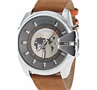 JUBAOLI® Men's Military Design Case Fabric Band Quartz Wrist Watch Cool Watch Unique Watch