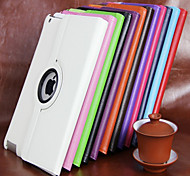 cheap -Case For iPad Mini 4 iPad Mini 3/2/1 iPad 4/3/2 iPad Air 2 iPad Air with Stand 360° Rotation Full Body Cases Solid Color PU Leather for