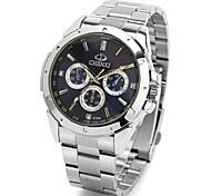 cheap -CHENXI® Men's Quartz Japanese Quartz Wrist Watch Water Resistant / Casual Watch Stainless Steel Band Casual Dress Watch Cool Silver