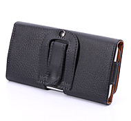 Universal PU  Litchi Clip Buckle Open Up and Down Horizontal Case Hanging Pockets for Samsung Galaxy S5 S6 S3Mini  A3