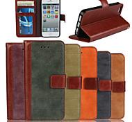 подлинный матовый нубук коровьей искусственная кожа флип чехол бумажник слот для карт памяти чехол с подставкой для Iphone 5 / 5S (разных