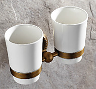 cheap -Toothbrush Holder Antique Brass 1 pc - Hotel bath