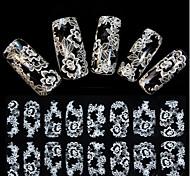 preiswerte -1pcs Spitzen-Aufkleber 3D Nagel Sticker Nagel Stamping Vorlage Alltag Blume Modisch Hochzeit Gute Qualität