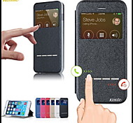 Kemile mart Front Window Cae Cover PU Leather Cae liding Anwer Call Function Flip for iPhone 6 (Aorted Color)