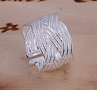 cheap -Women's Silver Plated Statement Ring - Folk Style Silver Ring For Wedding / Party / Daily