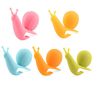 cheap -Attractive & Cute Snail Shape Silicone Tea Bag Holder (Multicolor) (5PCS/Pack)