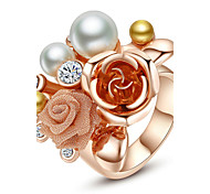 Women's Statement Rings Fashion Statement Jewelry Costume Jewelry Pearl Alloy Jewelry For Party