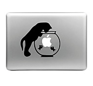 Hat-Prince Cat and Fish Tank Designed Removable Decorative Skin Sticker for MacBook Air / Pro / Pro with Retina Display