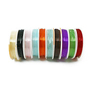Beadia 1mm Elastic Stretch Beading Crystal Cord Necklace Bracelet DIY Wire Thread Multi Color 10 Rolls (apx 5m/roll)