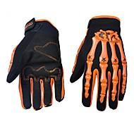 Недорогие -Мотоцикл перчатки Полный палец Нейлон/Лайкра/Пластик ABS M/L/XL Зеленый/Синий/Оранжевый