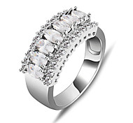 High Quality Fashion Women Platinum 10 KT White   Zircon Ring