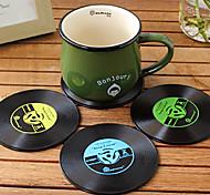 старинные винил каботажное судно заводной запись CD стол бар напитков Кубок мат 1шт (ramdon цвет)
