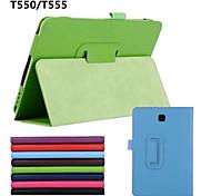 Кожа PU сплошного цвета полные шкафы тела случаи с авто стенд сон / бодрствование на Samsung Galaxy Tab 9.7