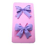 torta di bowknot accessori in silicone stampo attrezzi di cottura della cucina decorazioni per cioccolatini dolci fondente