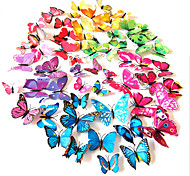 3D PVC Colorful Simulation Butterfly Wall Stickers 12PCS/SET