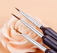 Недорогие -3шт Щетки ручные ногтей Художественная роспись прокладку рисунок пером набор кистей