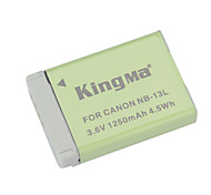 cheap -KINGMA NB-13L Replacement 3.6V 1250mAh Li-ion Battery for Canon PowerShot G7 X - Grey + Green