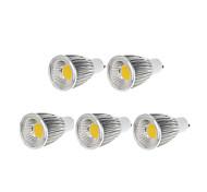 GU10 LED Spotlight MR16 1 COB 750-800lm Warm White Cold White 3000-3500K Dimmable AC 220-240 AC 110-130V 5pcs
