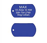 Недорогие -персональный подарок анодированного алюминия имя собаки ID тегов для питомца (ассорти цветов)
