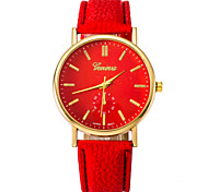 Male And Female Couple Fashion Watches Gold Shell PU Belt Cool Watches Unique Watches