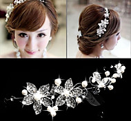 Alloy Flower Pearl Headpiece Headband