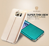 KALAIDENG Sun Series Super Thin View Leather Case for Galaxy S6