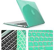 Недорогие -сплошной цвет новейший кристаллический случай для всего тела с крышкой клавиатуры для MacBook Air 11,6 дюйма (ассорти цветов)