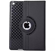 cheap -Case For iPad Air with Stand Origami 360° Rotation Full Body Cases Solid Color PU Leather for iPad Air