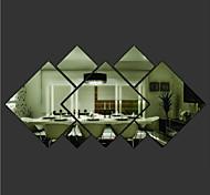 Недорогие -Геометрия Наклейки Зеркальные стикеры Декоративные наклейки на стены материал Съемная Украшение дома Наклейка на стену