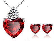 cheap -Women's Crystal Alloy Party Daily Casual Earrings Necklaces Costume Jewelry