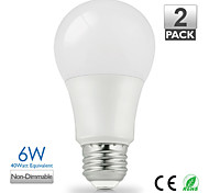 cheap -1pc 6W 500 lm E26/E27 LED Globe Bulbs A60(A19) 14 leds SMD 5630 Warm White Cold White Natural White AC 110-130V AC 220-240V