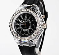 Women LED Light Watch Silicone Band Quartz Analog Watch Cool Watches Unique Watches